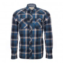 CHAZ CHECK SHIRT IN BLUE