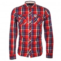 SANCHEZ CHECK SHIRT IN RED/NAVY